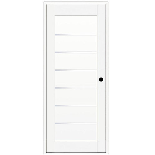 VINT NYC Finished Solid Core Composite 6-Lite Satin Glass Prehung Interior Door