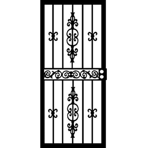 Grisham 406 Series Black Indiana Security Door