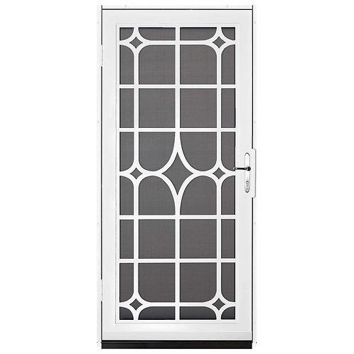 Unique Home Designs Lexington Security Door w/ Insect Screen & Brass Hardware