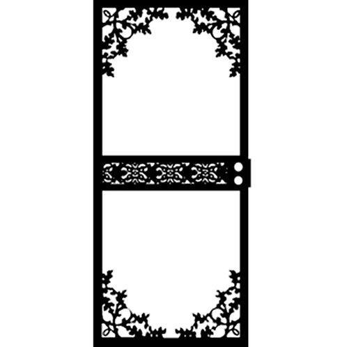 Grisham 464 Series Black Garden View Security Door
