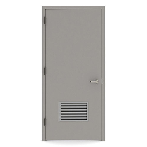 L.I.F. Industries Nonfire Louver Steel Prehung Commercial Door w/ Welded Frame