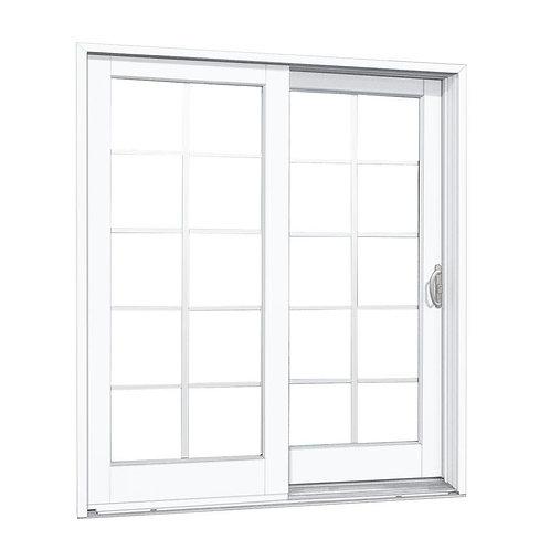 MP Doors Composite Sliding Patio Door w/ 10-Lite GBG