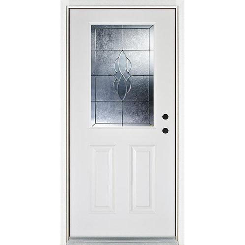MP Doors Scotia Classic 1/2 Lite Finished Prehung Fiberglass Exterior Door