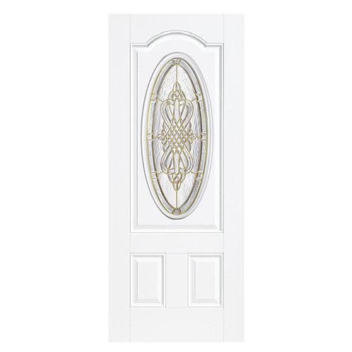 Masonite New Haven 3/4 Oval Lite Outswing Steel Prehung Exterior Door