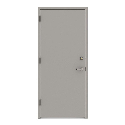 L.I.F. Industries Flush Security Steel Prehung Commercial Door with Welded Frame