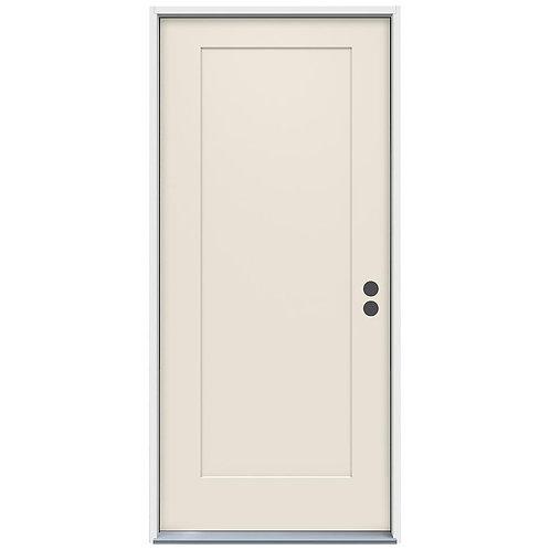 JELD-WEN 1-Panel Craftsman Steel Prehung Exterior Door
