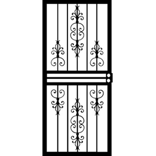 Grisham 408 Series Black Countryside Security Door