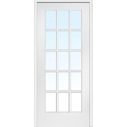 MMI Door Composite Clear Glass 15-Lite Single Prehung Interior Door