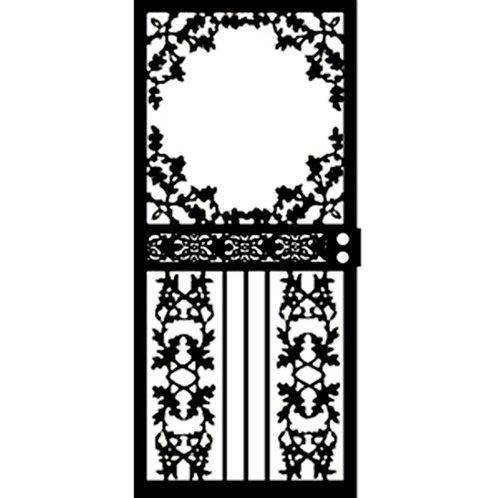 Grisham 461 Series Black Scenic Security Door