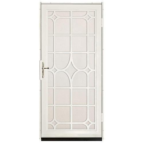 Unique Home Designs Lexington Security Door w/ Almond Screen & Bronze Hardware