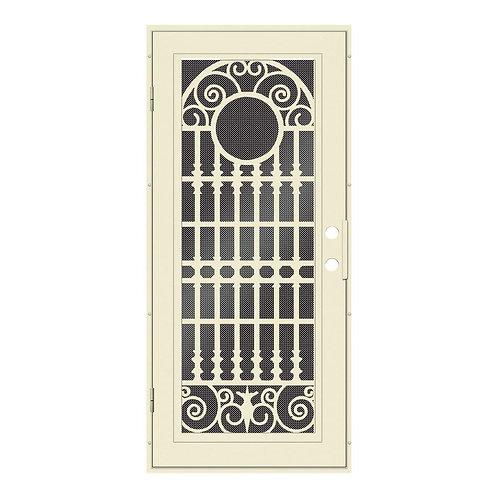 Unique Home Designs Spaniard Aluminum Security Door w/ Black Screen
