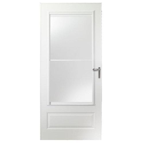 EMCO 300 Series Self-storing Aluminum Storm Door w/ Nickel Hardware