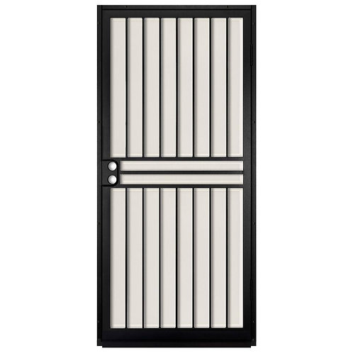 Unique Home Designs Guardian Black Security Door w/ Aluminum Screen