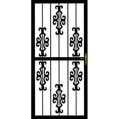 Grisham 366 Series Black DeSoto Security Door