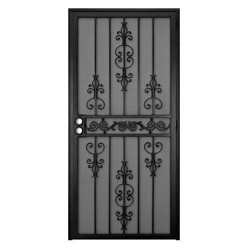 Unique Home Designs El Dorado Security Door w/ Heavy-duty Expanded Metal Screen