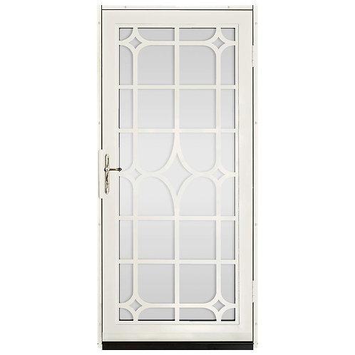 Unique Home Designs Lexington Security Door w/ Shatter-resistant Glass & Brass
