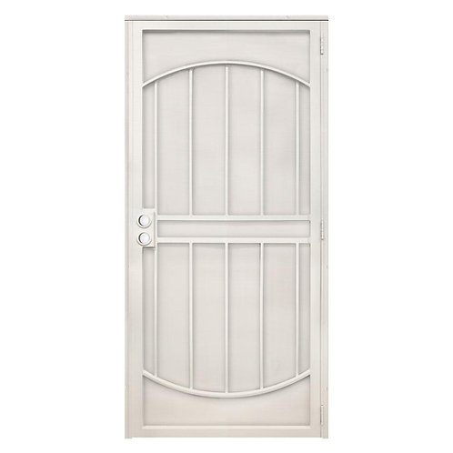 Unique Home Designs Arcada Steel Security Door w/ Expanded Metal Screen