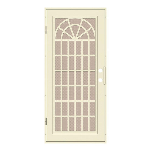 Unique Home Designs Trellis Surface Mount Security Door w/ Desert Sand Screen