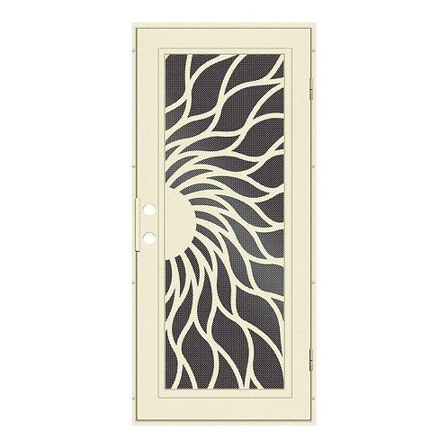 Unique Home Designs Sunfire Aluminum Security Door w/ Black Screen