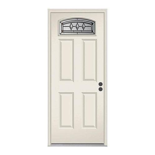 JELD-WEN Camber Top Mission Prairie Steel Prehung Exterior Door w/ Brickmould