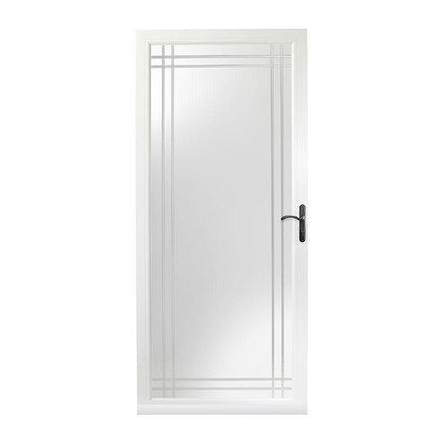 Andersen 3000 Series Fullview Etched Glass Storm Door w/ Bronze Hardware