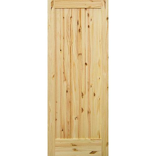 Krosswood Doors 1-Panel Knotty Pine Prehung Interior Door w/ Bronze Hinges