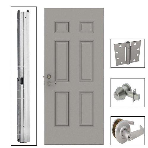 L.I.F. Industries 6-Panel Steel Security Commercial Door with Hardware