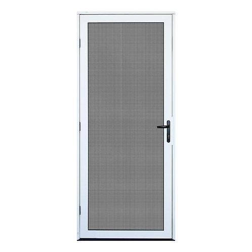 Unique Home Designs White Outswing Security Door w/ Meshtec Screen