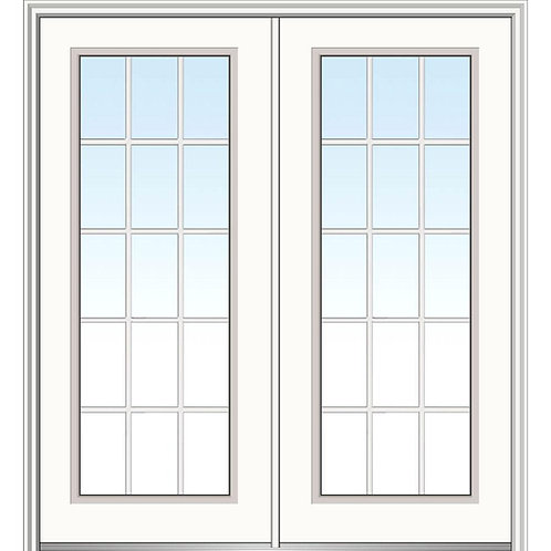 MMI Door Internal Grilles Fiberglass Prehung Double Front Door