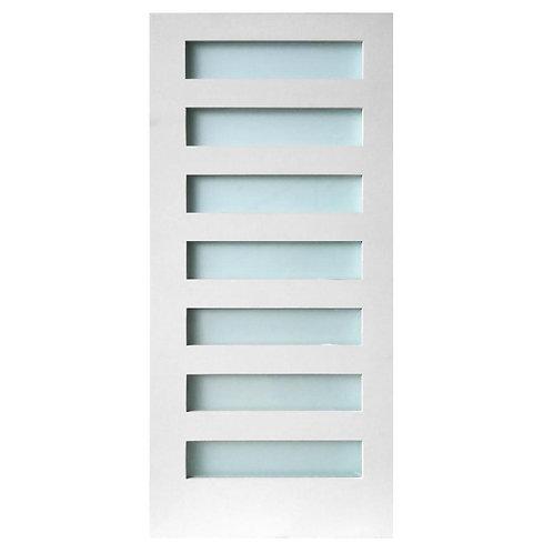 Stile Doors 7-Lite Satin Etch Solid Core MDF Interior Door Slab