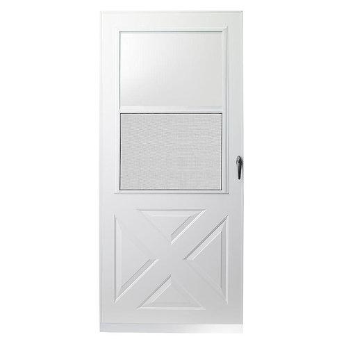 EMCO 200 Series Crossbuck Aluminum Storm Door