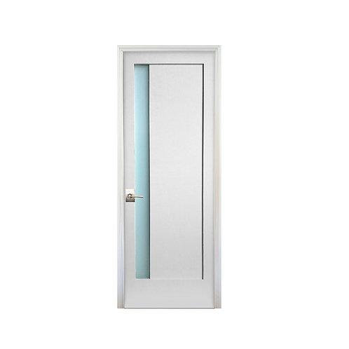 Stile Doors 1-Lite Narrow Satin Etch Solid Core Prehung Interior Door