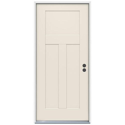 JELD-WEN 3-Panel Craftsman Steel Prehung Exterior Door