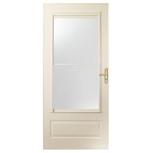 Andersen 400 Series Self-storing Aluminum Storm Door w/ Brass Hardware