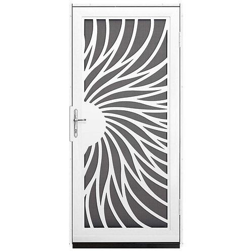 Unique Home Designs Solstice Security Door w/ Insect Screen & Brass Hardware