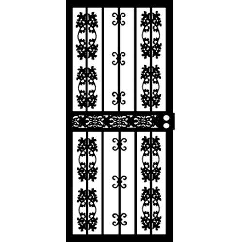 Grisham 413 Series Black Colorado Security Door