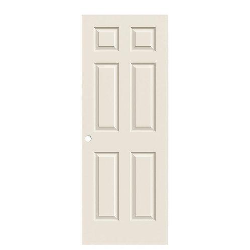 JELD-WEN Colonist Textured Molded Composite Interior Door Slab (Bored)