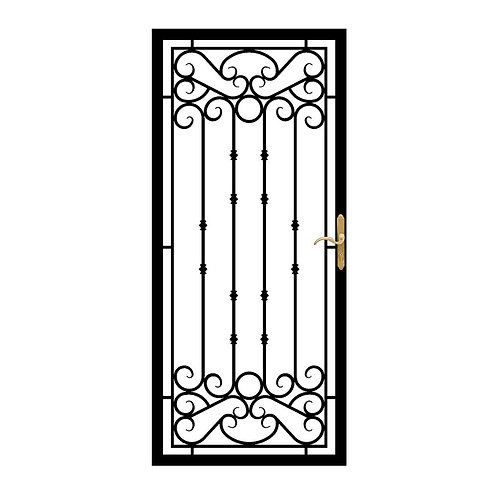 Grisham 368 Series Bella Recessed Mount Wrought Iron Security Door