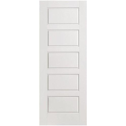 Masonite Riverside Smooth 5-Panel Equal Hollow Core Composite Interior Door Slab