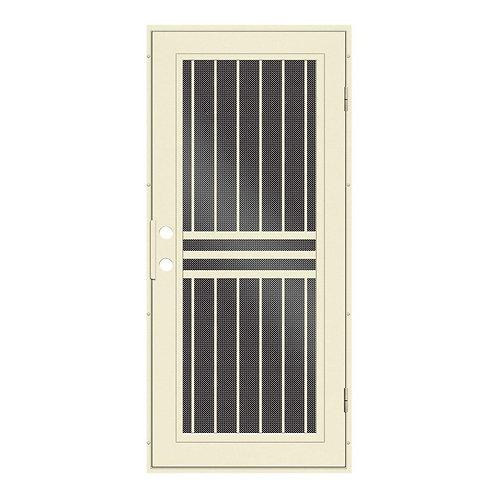 Unique Home Designs Plain Bar Surface Mount Security Door w/ Black Metal Screen