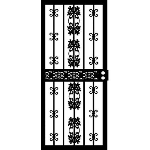 Grisham 411 Series Black Georgia Security Door