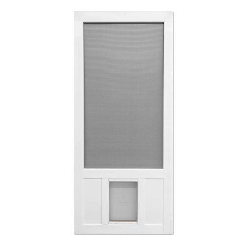 Screen Tight Chesapeake Series Solid Vinyl Screen Door w/ Pet Flap