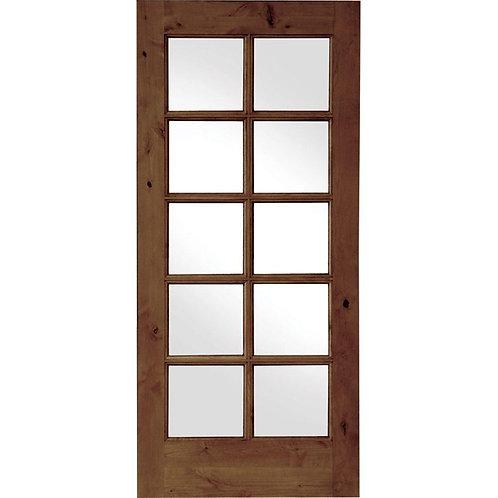 Krosswood Doors French Knotty Alder 10 Lite Prehung Interior Door