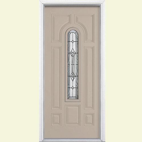 Masonite Providence Center Arch Prehung Fiberglass Exterior Door w/ Brickmould