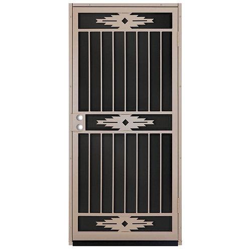 Unique Home Designs Pima Tan Security Door w/ Aluminum Screen