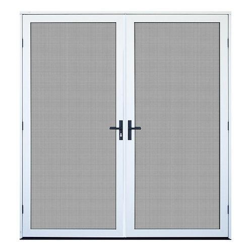 Unique Home Designs Surface Mount Double Security Door w/ Meshtec Screen