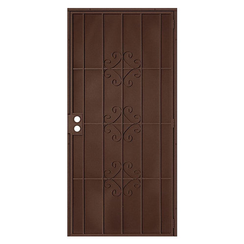 Unique Home Designs Del Flor Security Door w/ Expanded Metal Screen