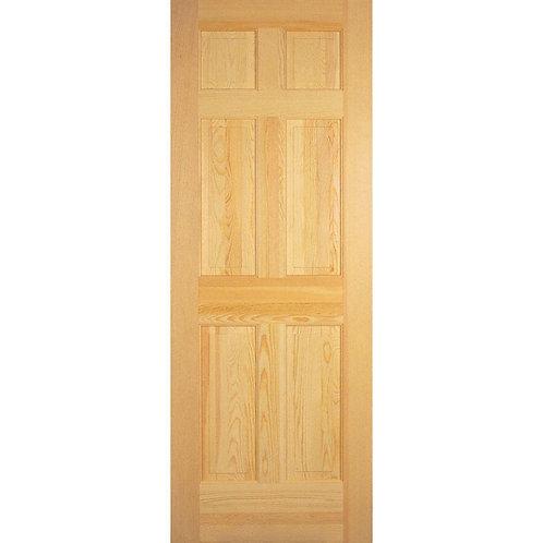 Builders Choice 6-Panel Solid Core Prehung Interior Door