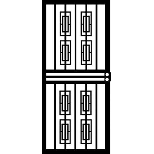 Grisham 412 Series Black Silver Security Door
