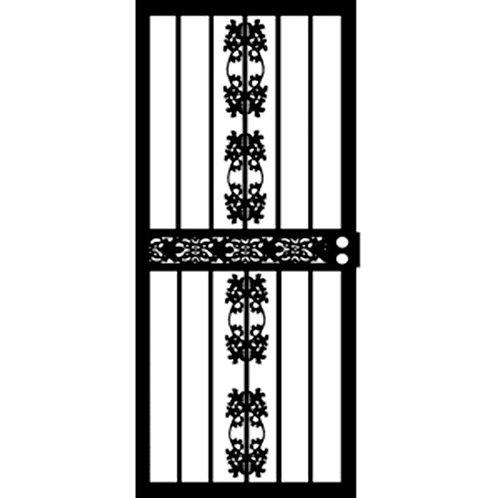 Grisham 402 Series Black Illinois Security Door